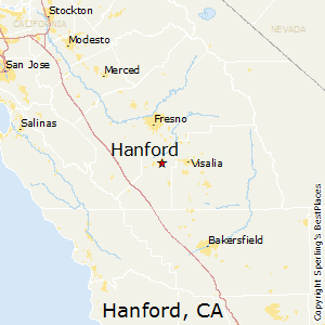 Hanford,California Map