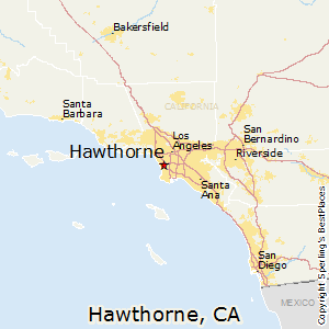 Hawthorne,California Map