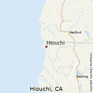 Hiouchi,California Map