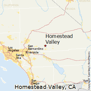 Homestead_Valley,California Map