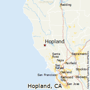 Hopland,California Map