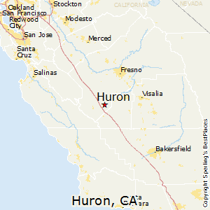 Coalinga California Map.Comparison Huron California Coalinga California