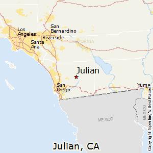 Julian California Map Julian, California Cost of Living