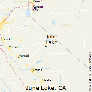 June_Lake,California Map