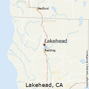 Lakehead,California Map