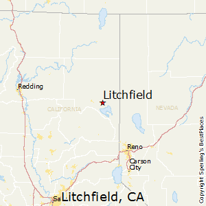 Litchfield,California Map