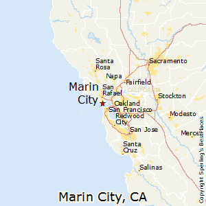 Marin_City,California Map