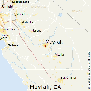 Mayfair,California Map