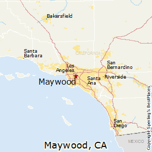 Maywood,California Map