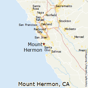 Mount_Hermon,California Map