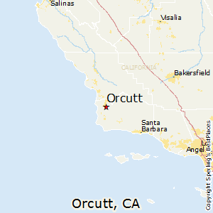 Orcutt,California Map