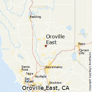 Oroville_East,California Map