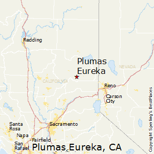 Plumas_Eureka,California Map