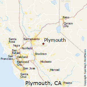 Plymouth,California Map