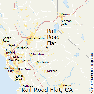 Rail_Road_Flat,California Map