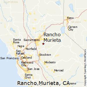 Rancho_Murieta,California Map