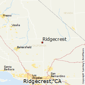Ridgecrest,California Map