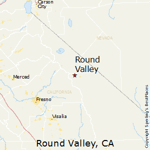 Round_Valley,California Map