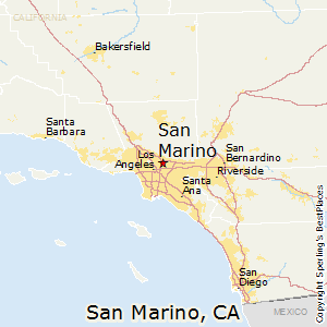 San Marino California Map.Best Places To Live In San Marino California