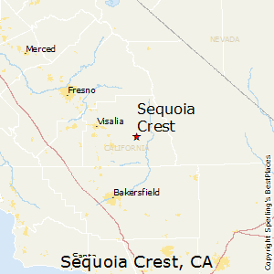 Sequoia_Crest,California Map