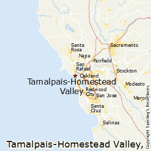 Tamalpais-Homestead_Valley,California Map