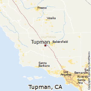 Tupman,California Map