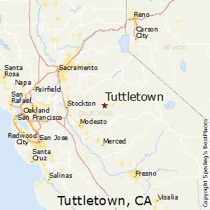 Tuttletown,California Map
