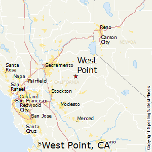 West_Point,California Map