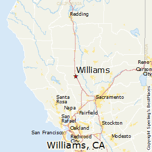 Williams,California Map
