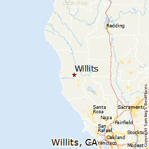 Willits,California Map