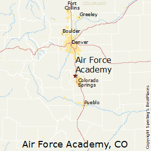 Best Places To Live In Air Force Academy Colorado - Air force academy map