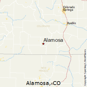 Alamosa,Colorado Map