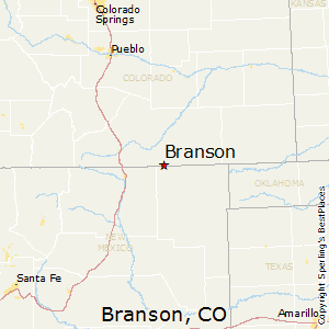 Branson,Colorado Map