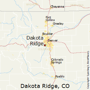 Dakota_Ridge,Colorado Map