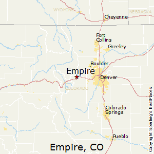 Empire,Colorado Map