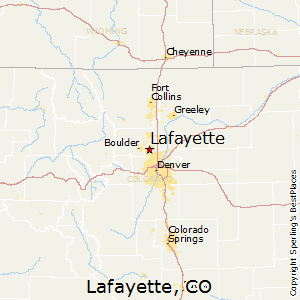Best Places To Live In Lafayette Colorado - Lafayette map