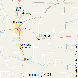 Limon,Colorado Map