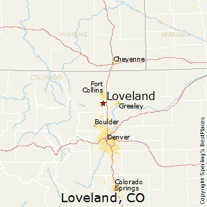 Loveland,Colorado Map