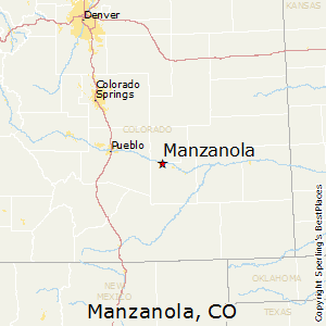 Manzanola,Colorado Map