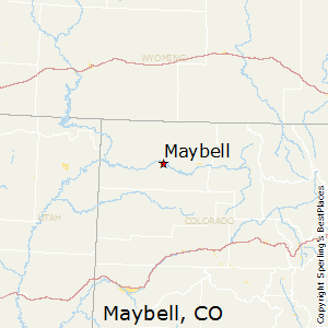 Maybell,Colorado Map