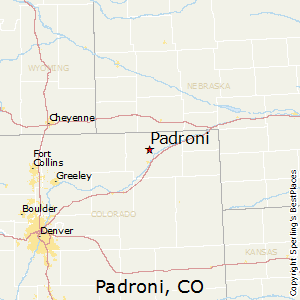 Padroni,Colorado Map