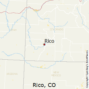 Rico,Colorado Map