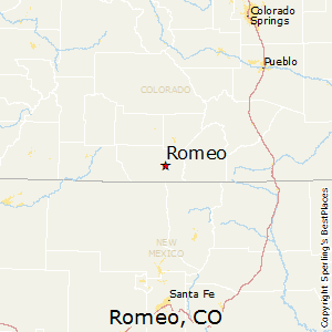 Romeo,Colorado Map