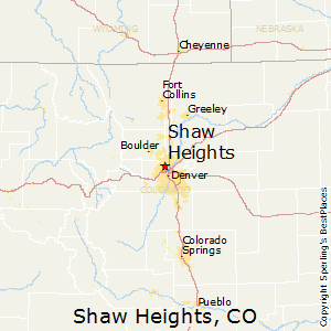 Shaw_Heights,Colorado Map