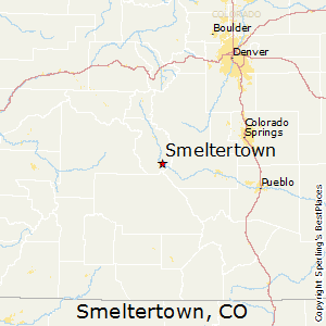 Smeltertown,Colorado Map