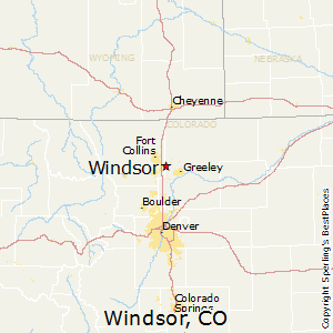 Windsor,Colorado Map