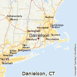 Danielson,Connecticut Map