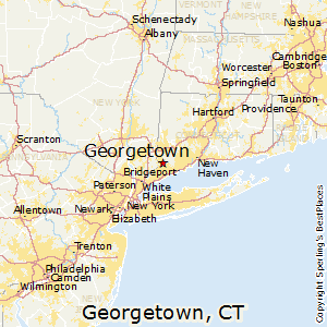 Georgetown,Connecticut Map