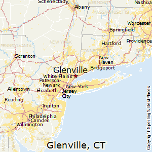 Glenville,Connecticut Map