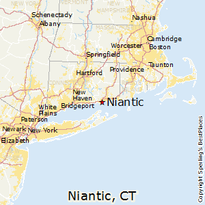 Niantic,Connecticut Map